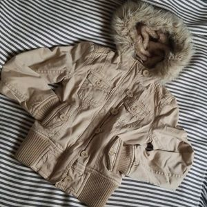 Aéropostale Jacket with Faux Fur Lined Hood